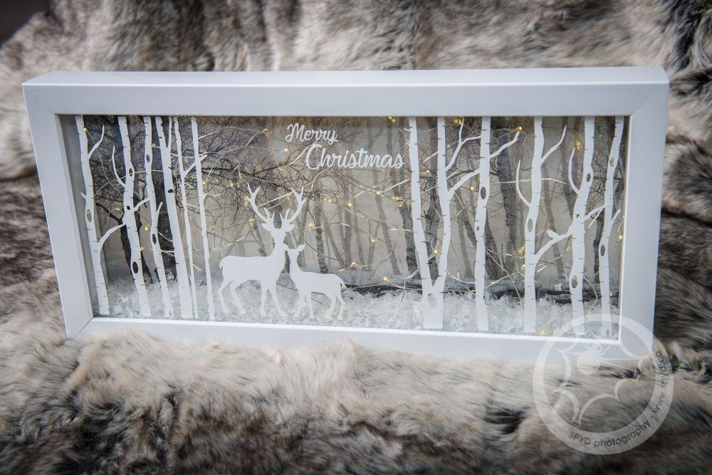 Christmas shadow box with lights christmas shadow boxes