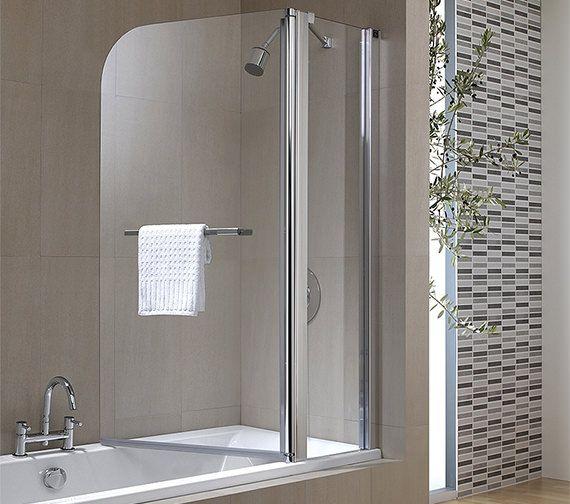 Twyford Geo6 2 Panel Bath Screen 1500 X 1200mm G68979cp