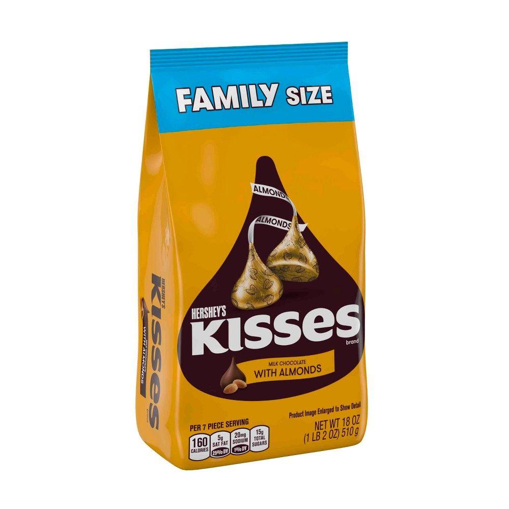 Hershey S Kisses Milk Chocolate With Almonds Family Bag 18oz