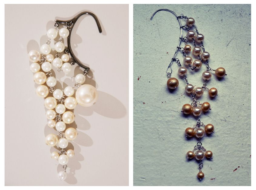 All The Good Girls Go To Heaven: ☩DIY☩ Pearl Ear Hook/Ear Wrap
