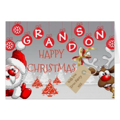 Grandson christmas card - from nanny