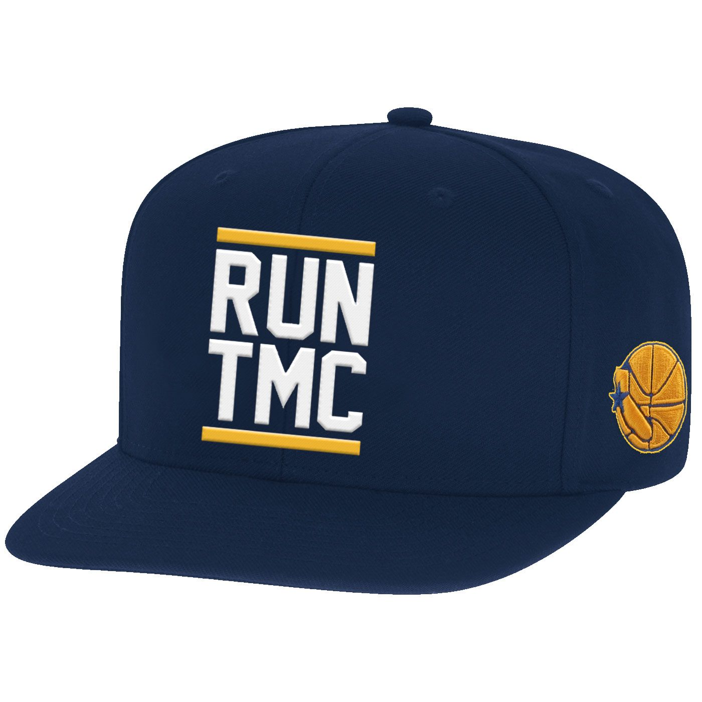 c34bf1a198efe1 Golden State Warriors Mitchell & Ness Hardwood Classics Run TMC Snapback Hat  - Navy - Golden State Warriors - Official Online Store