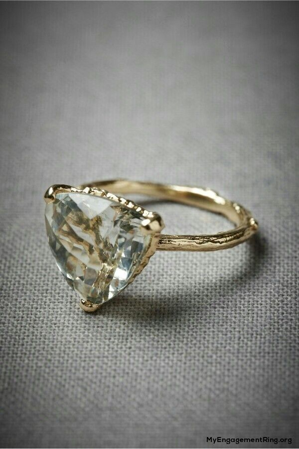 Antique Triangle Diamond Engagement Ring My