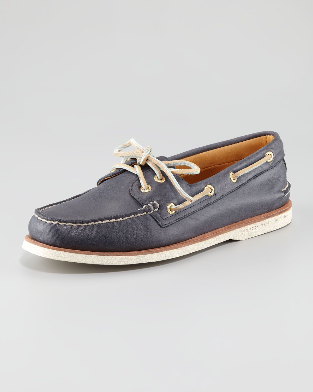 Gold Cup Authentic Original Boat Shoe, Navy by Sperry Top-Sider at Neiman  Marcus.