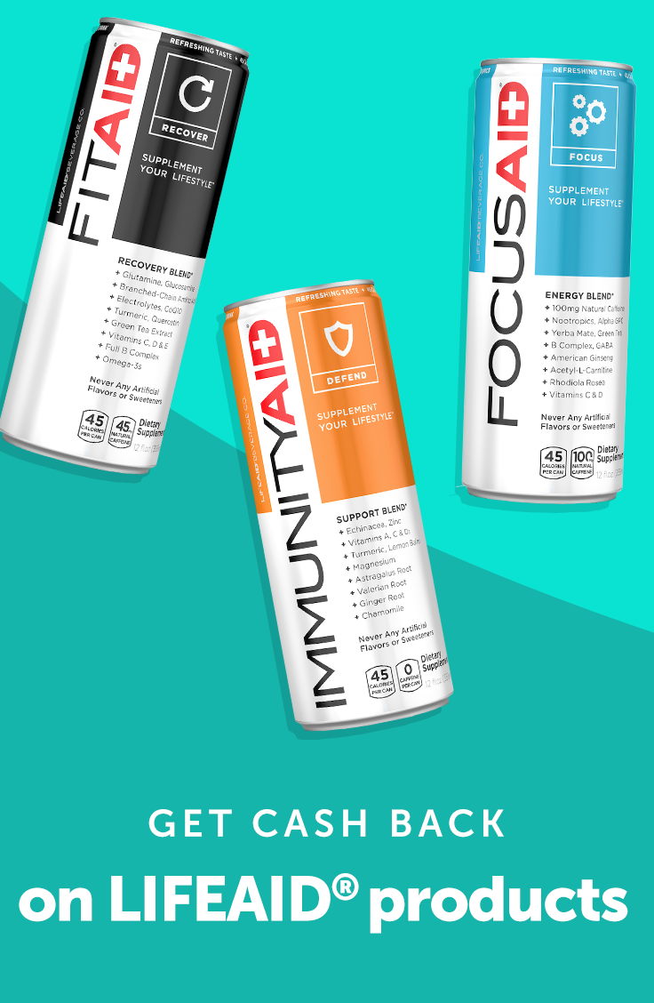 Fuel your day & earn some cash back with the refreshing