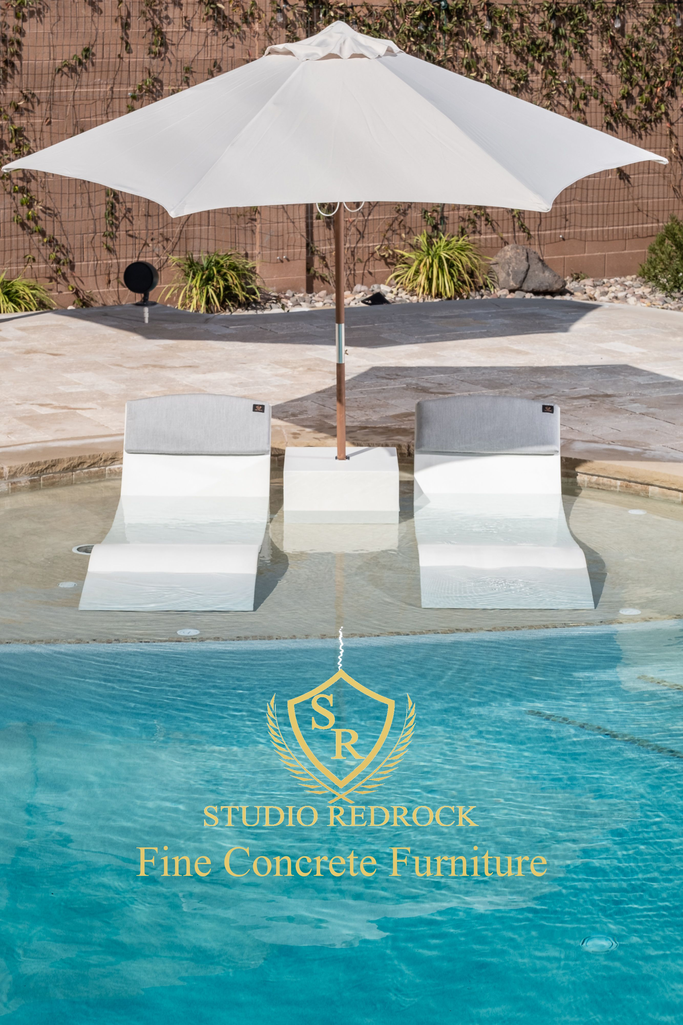 Polished Concrete Pool Lounge Chairs Omg I Cannot Believe How Amazing These Things Look Pool Lounge Chairs Concrete Pool Outside Pool Lounge chairs for inside the pool