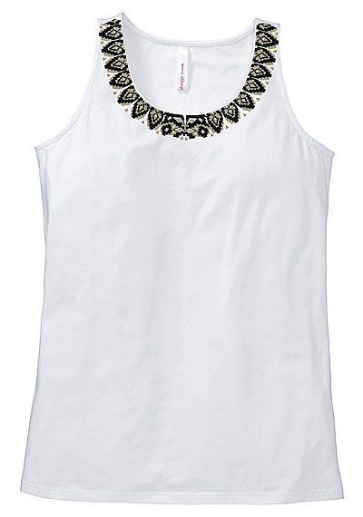 sheego Casual Top - weiß   Damenmode online kaufen