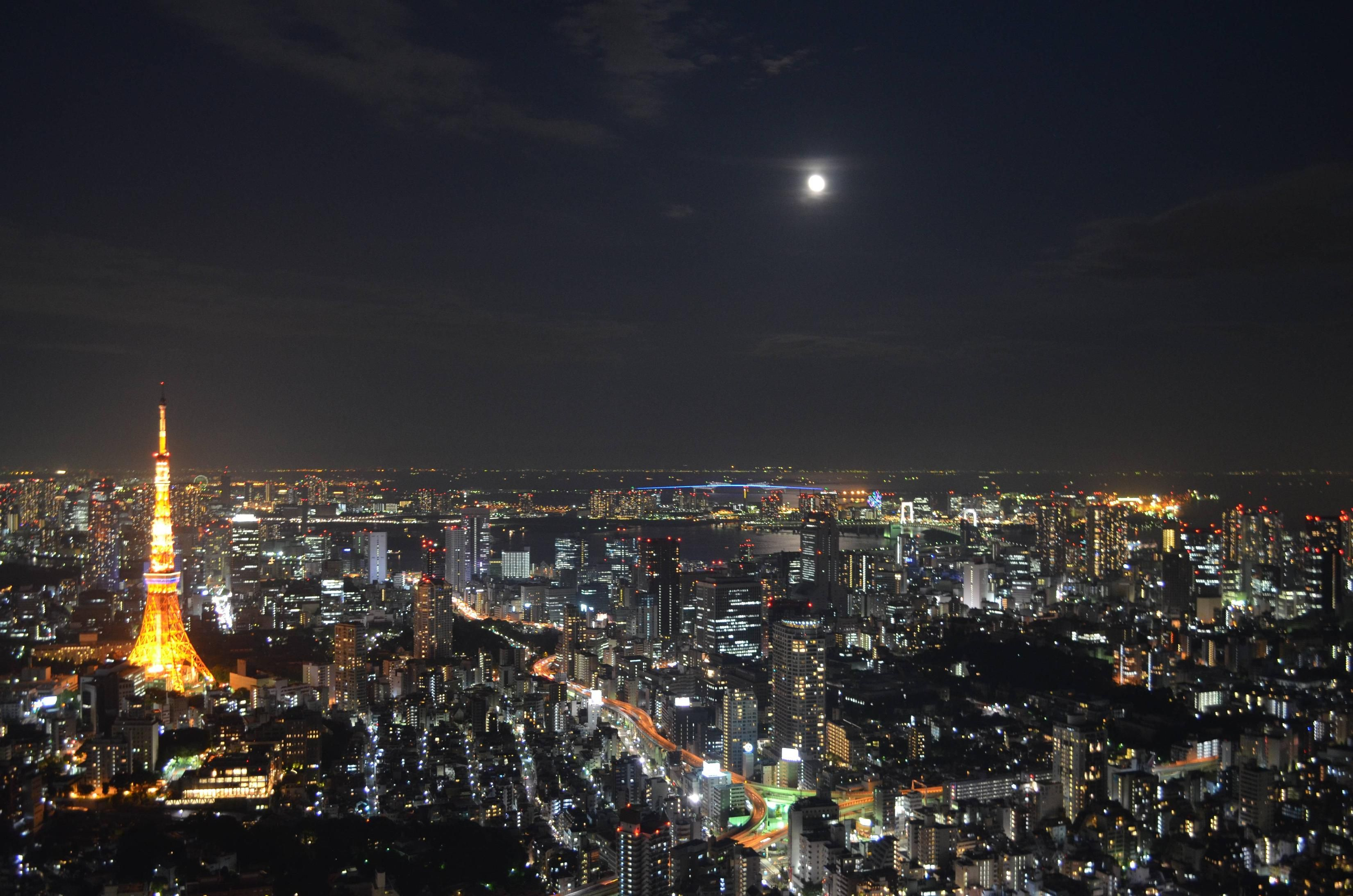 Tokyo By Night From Roppongi Hills Oc 3302x2187 With Images