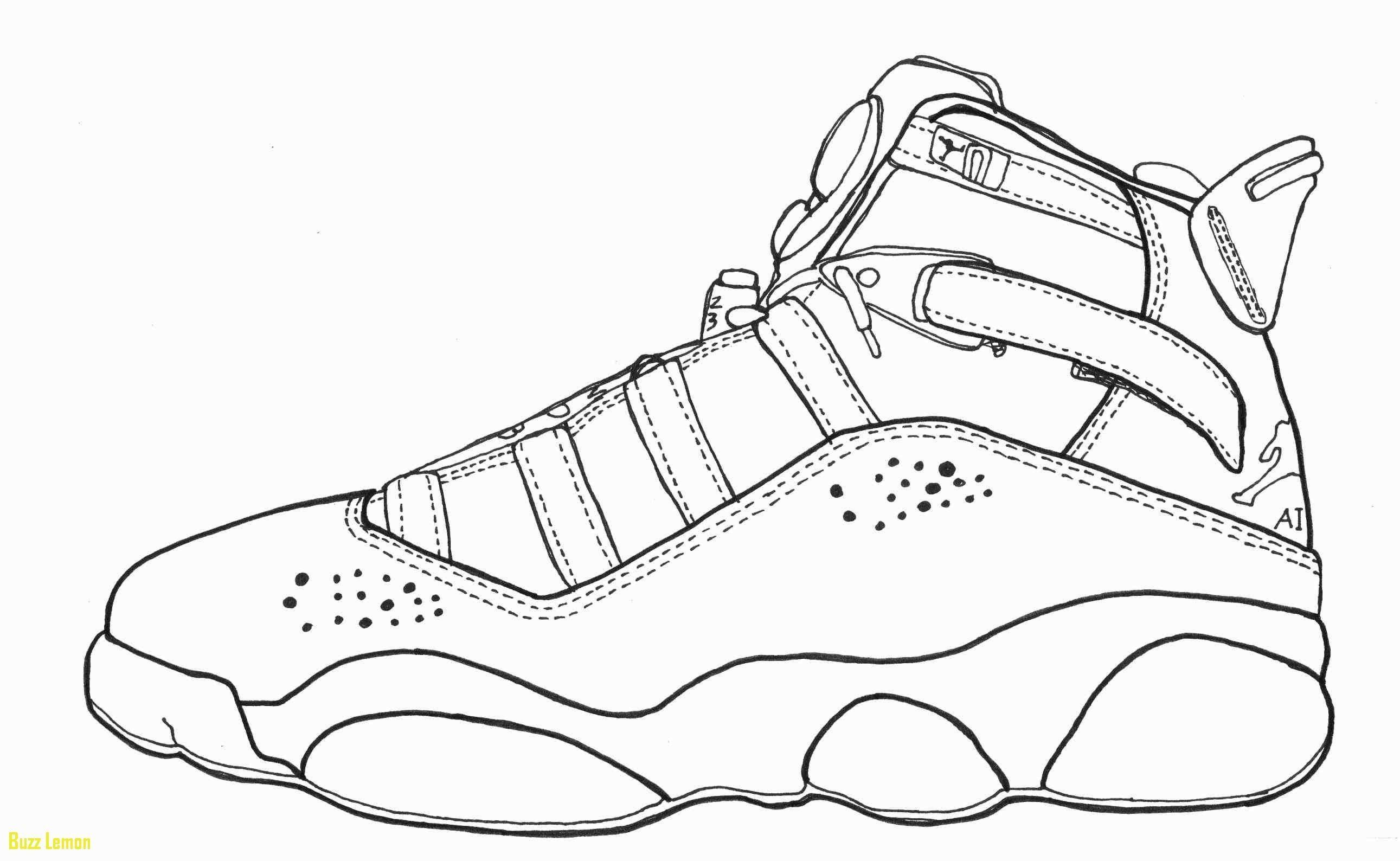 Jordan 8 Coloring Pages Dibujo Zapatillas Zapatos Dibujos Fotos De Michael Jordan