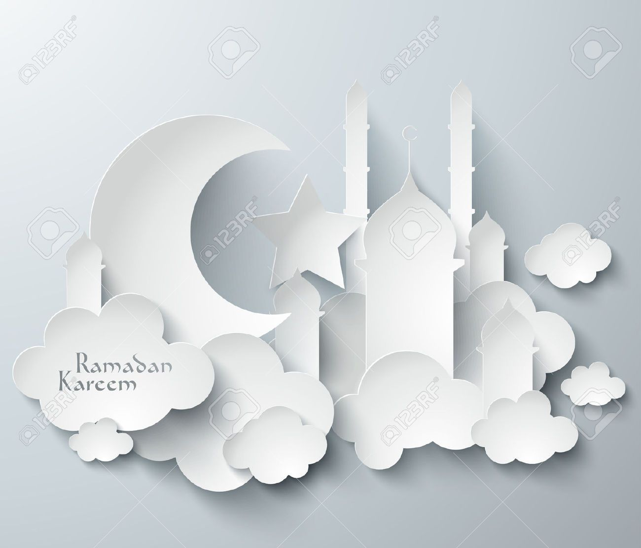 28304649 Vector 3d Muslim Paper Graphics Translation