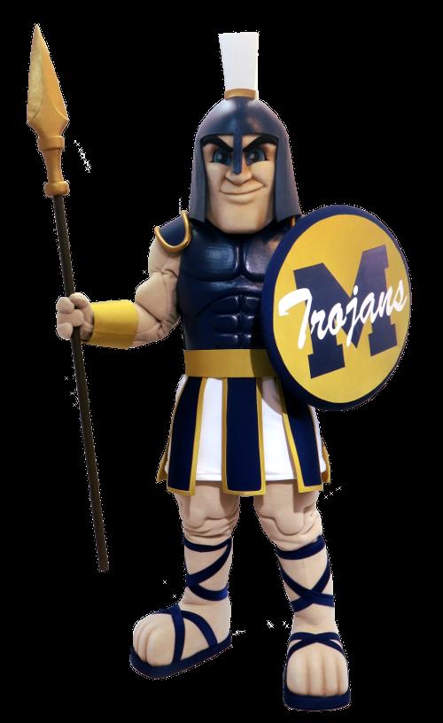 Midlothian High School Trojan Custom Knight Mascot