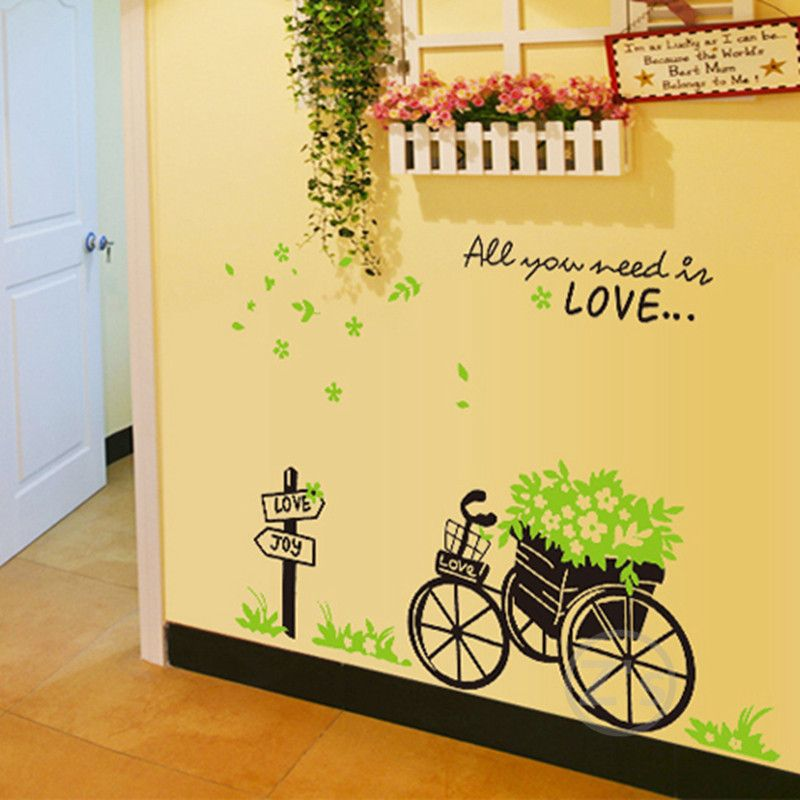 cheap wall decals bike stickers bicycle sticker home decor diy ...