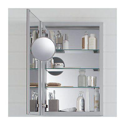 Kohler Verdera Aluminum Medicine Cabinet With Adjustable Flip Out Mirror 20 Quot X 30 Quot Kohler
