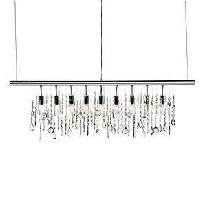 linear strand crystal chandelier z gallerie # 9