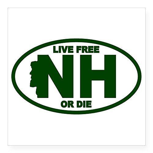 New Hampshire Oval ; State Bumper Sticker
