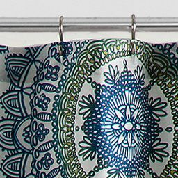 AnthologyTM Bungalow 72 Inch X Shower Curtain In Teal
