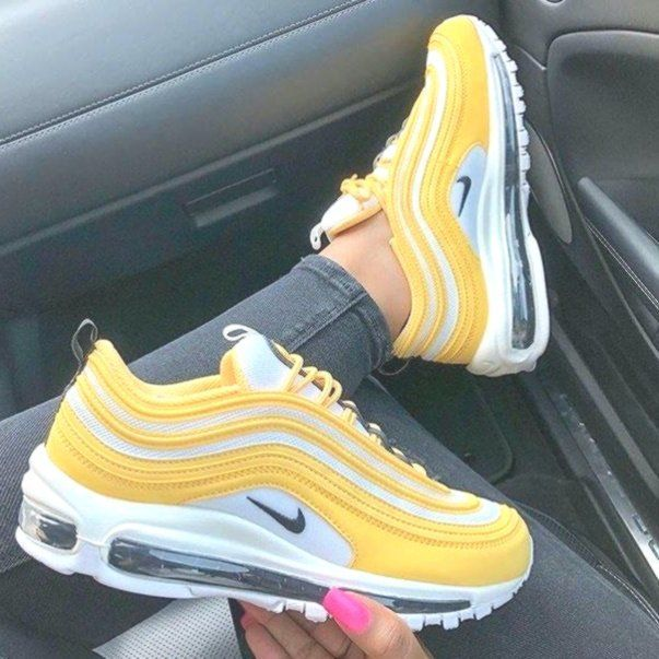 Nike Air Max 97 yellow shoes in 2020 | Yellow sneakers, Nike