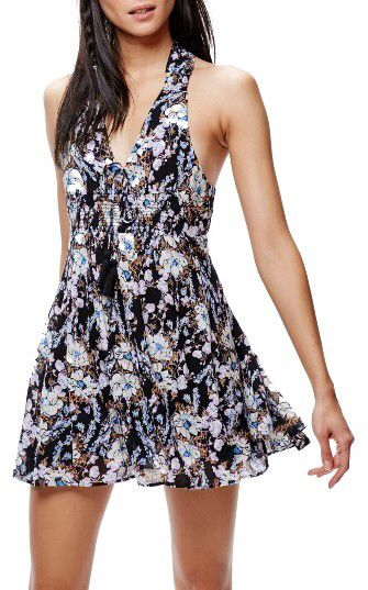 Women's Free People Floral Print Minidress