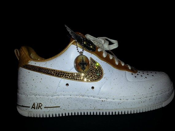 ed8afac743e946 Air Force One custom(olympic edition) (new orleans saints) shoe  (Crystallized)