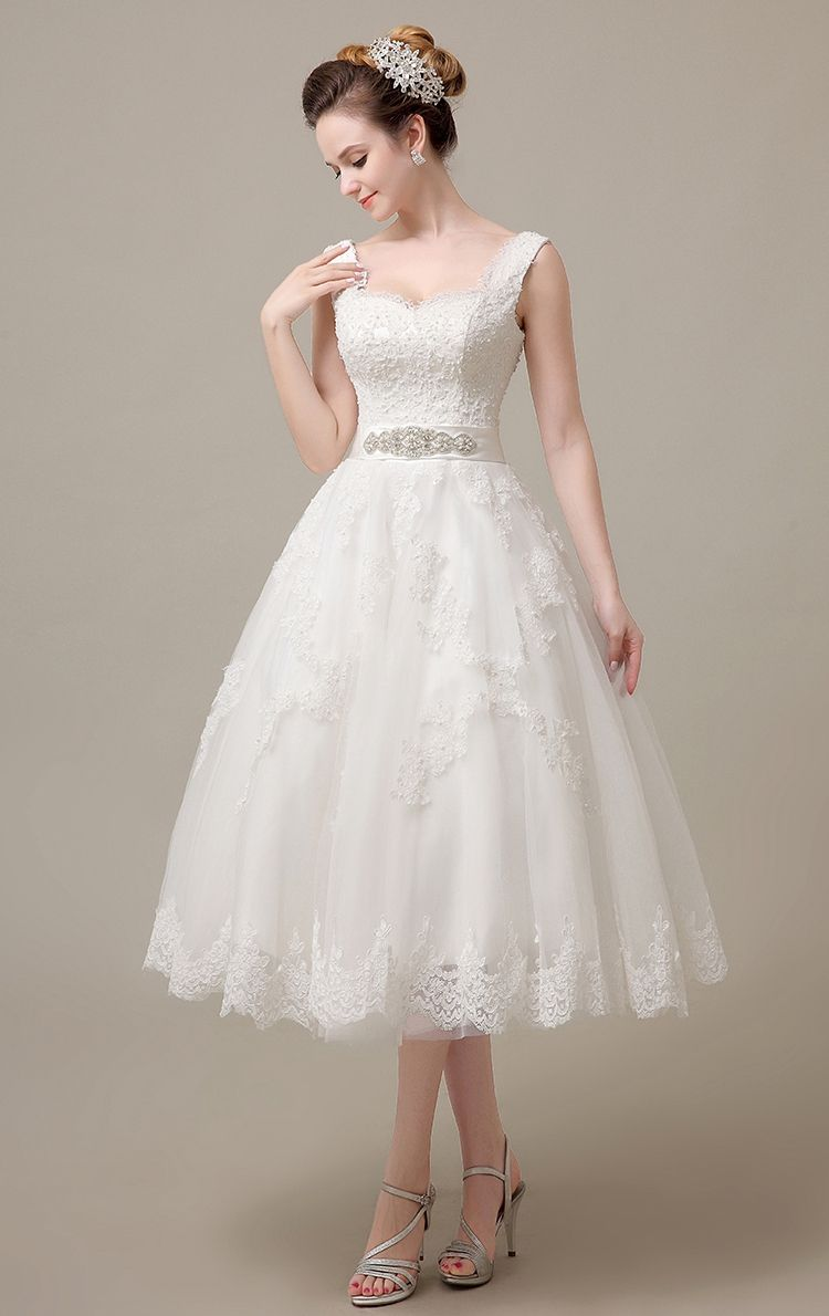 Cheap Vestido De Noiva Buy Quality De Noiva Directly From China Short Wedding Dress C Short Wedding Dress Tea Length Wedding Dress Wedding Dresses Vintage 50s [ 1190 x 750 Pixel ]
