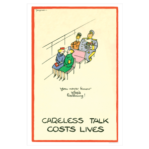 1940's Reproduction Poster 'Careless Talk Costs Lives' | Peeks