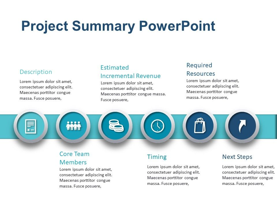 Project Summary Powerpoint Template 2 Powerpoint Templates