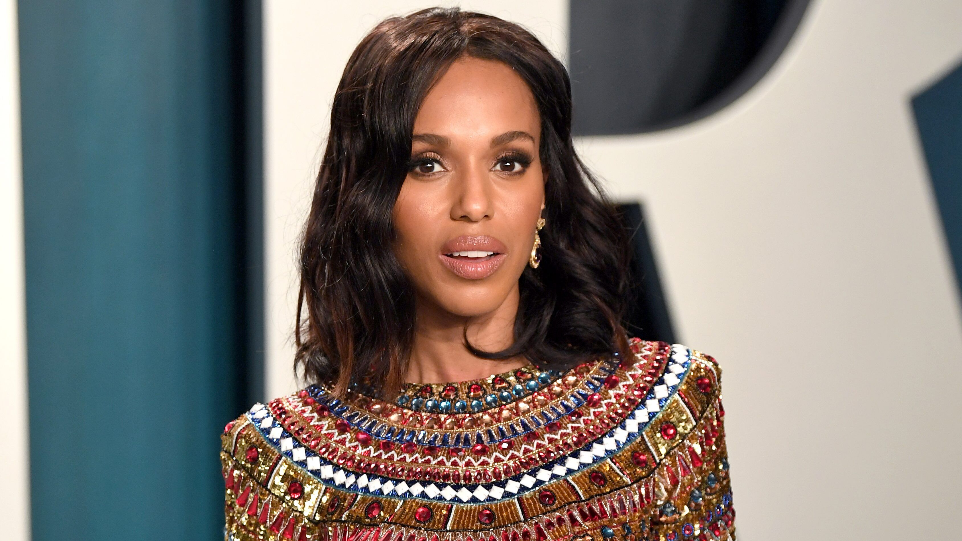 Kerry Washington served as the emcee for the third night of the Democratic National Convention on Wednesday.The former