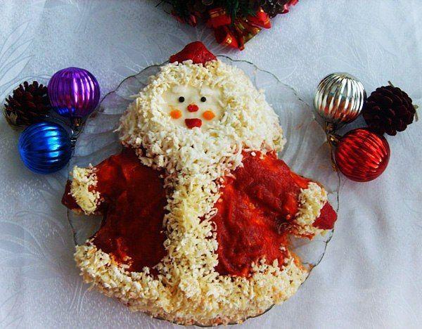 Как можно украсить салат_8 | Рождественские блюда, Салаты ...