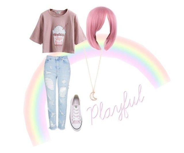 """""""Playful"""" by dyates-cierrah on Polyvore featuring Topshop, Full Tilt and Converse"""