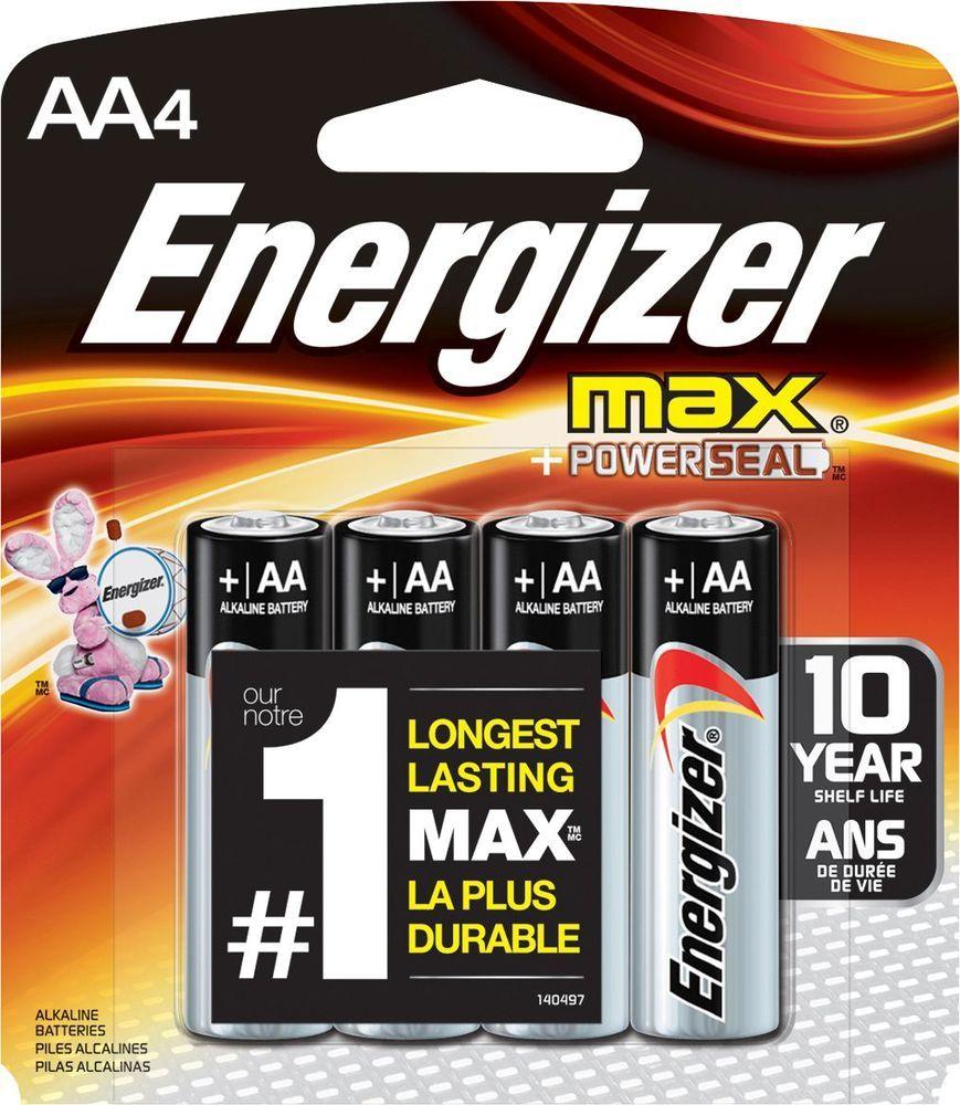 Energizer Max Batteries Aa 4 Pack E91bp 4 Best Buy Energizer Battery Energizer Alkaline Battery
