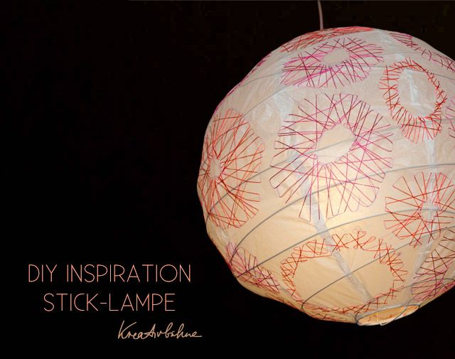 Embroidered Paper Lantern