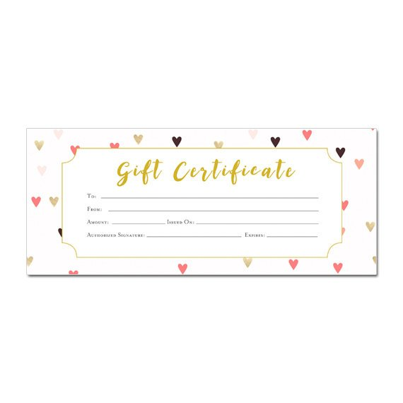 valentines day gift certificate template gift certificate