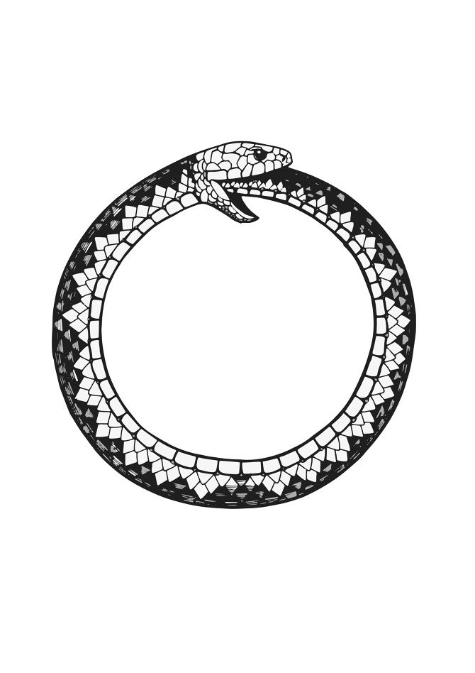 X ouroboros tarot pinterest tattoo google and tatto for Snake eating itself tattoo