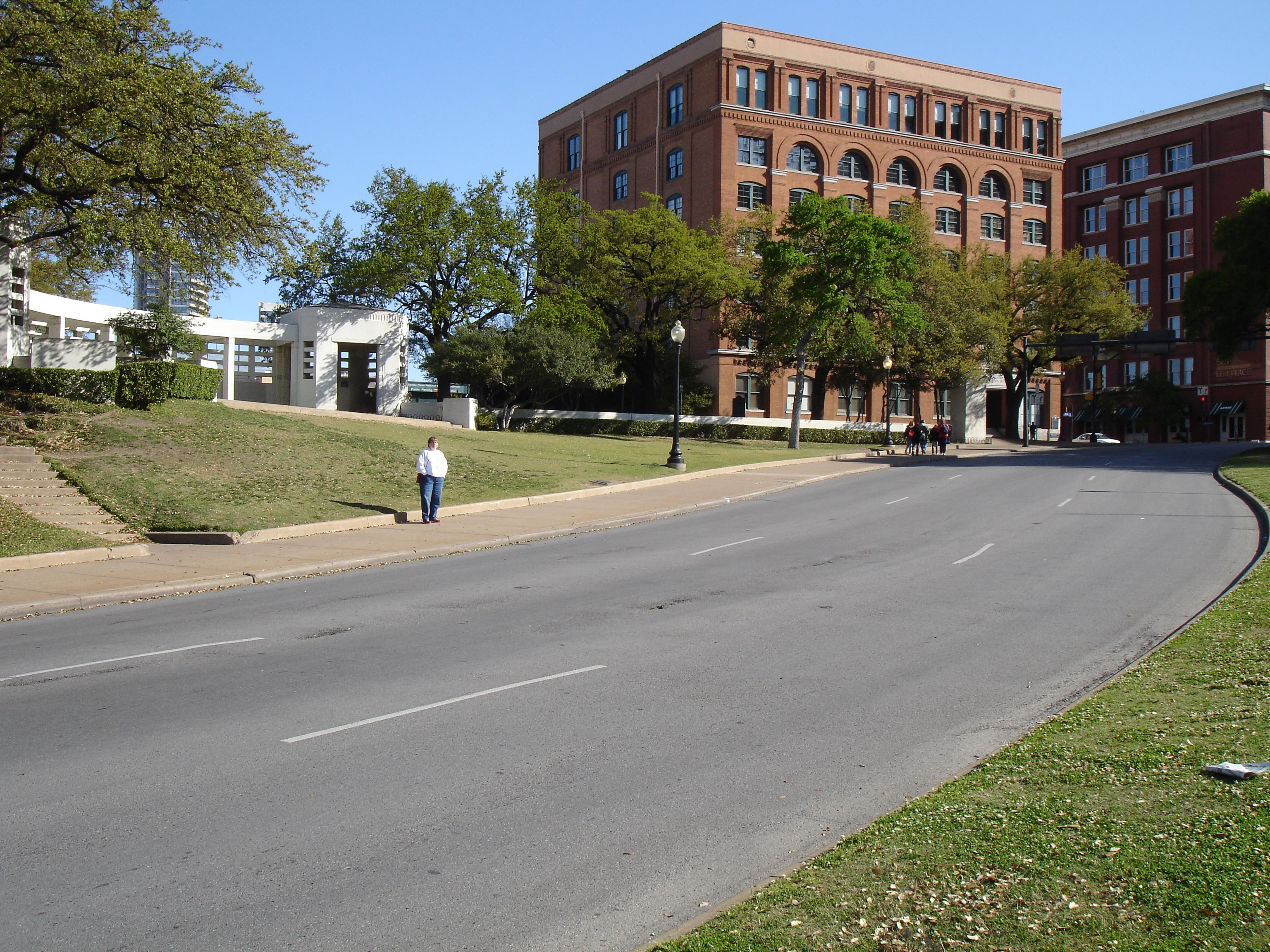 Dealey plaza and the sixth floor book depository in dallas