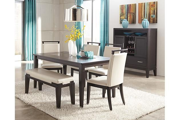 Trishelle Dining Room Table Chairs Dining Rooms And Dark Brown
