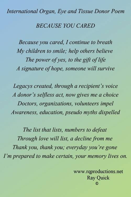 Organ Poem Donation Quote Donor Quotes Essay On
