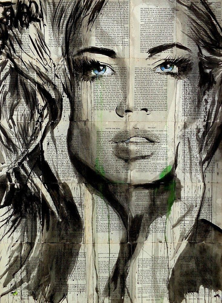 Silberne Meere Von Loui Jover Portrait Peinture Dessin Visage