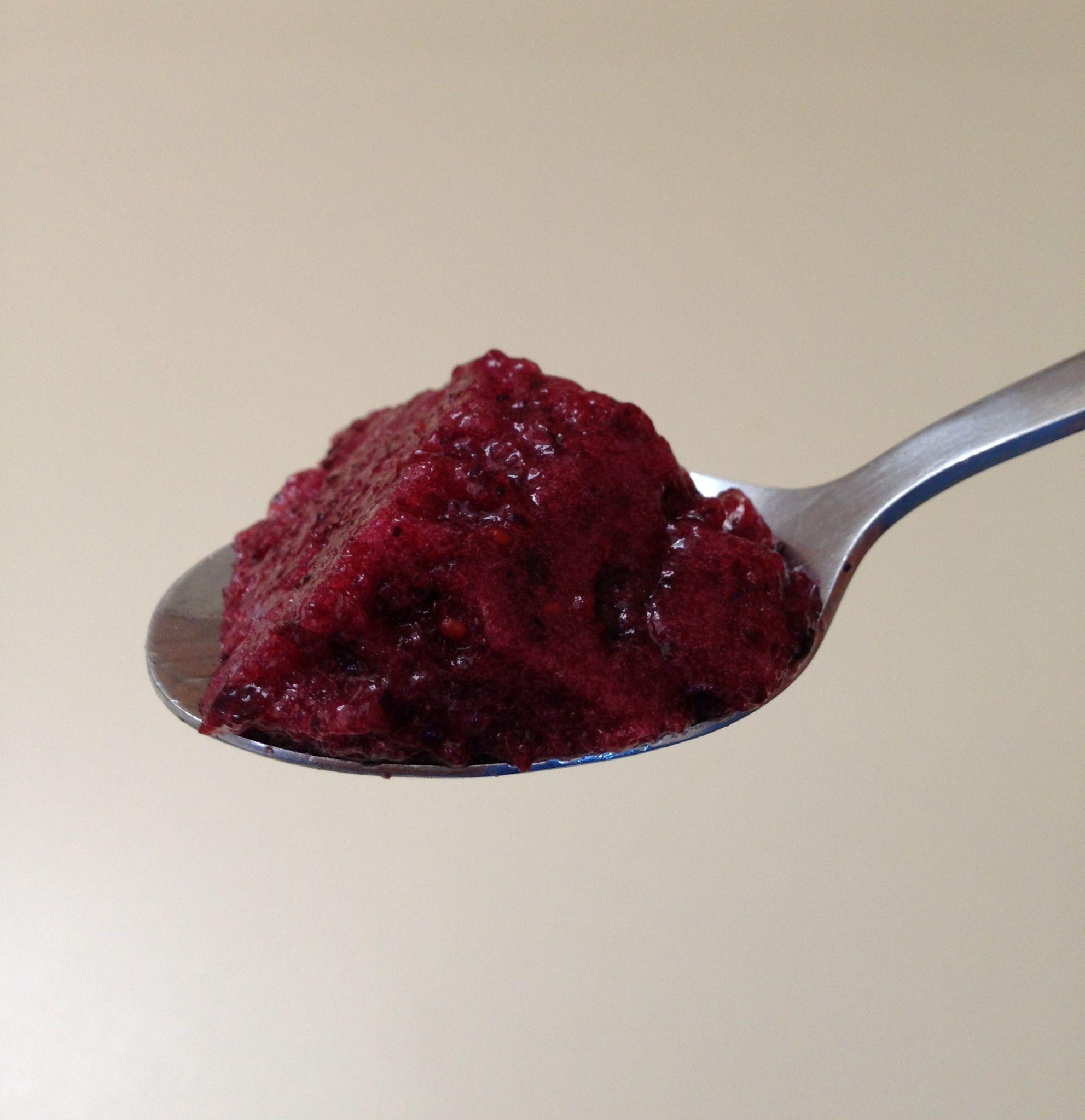 Aerated Blueberry Gelatin Gelatin, Blueberry, Real food