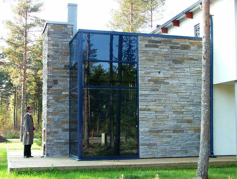 Fassadengestaltung steinoptik  Feuerverzinkte Fassade mit feuerverzinkter Unterkonstruktion ...