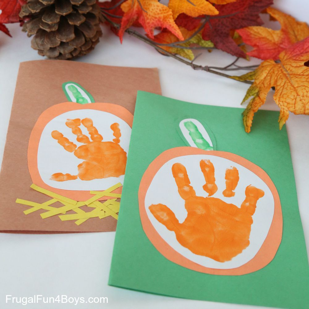 Your Little Pumpkin Handprint Card for Kids to Make - Frugal Fun For Boys and Girls