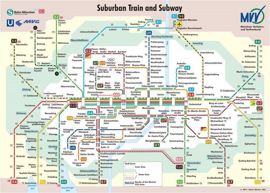 Image Of Munich Train Station Map Train Map Metro Map Subway Map