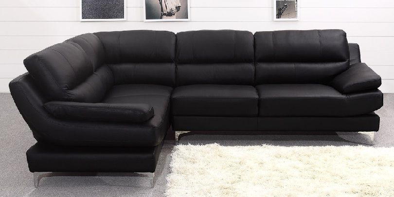 Small Black Leather Corner Sofa | Couches and Furniture | Leather ...