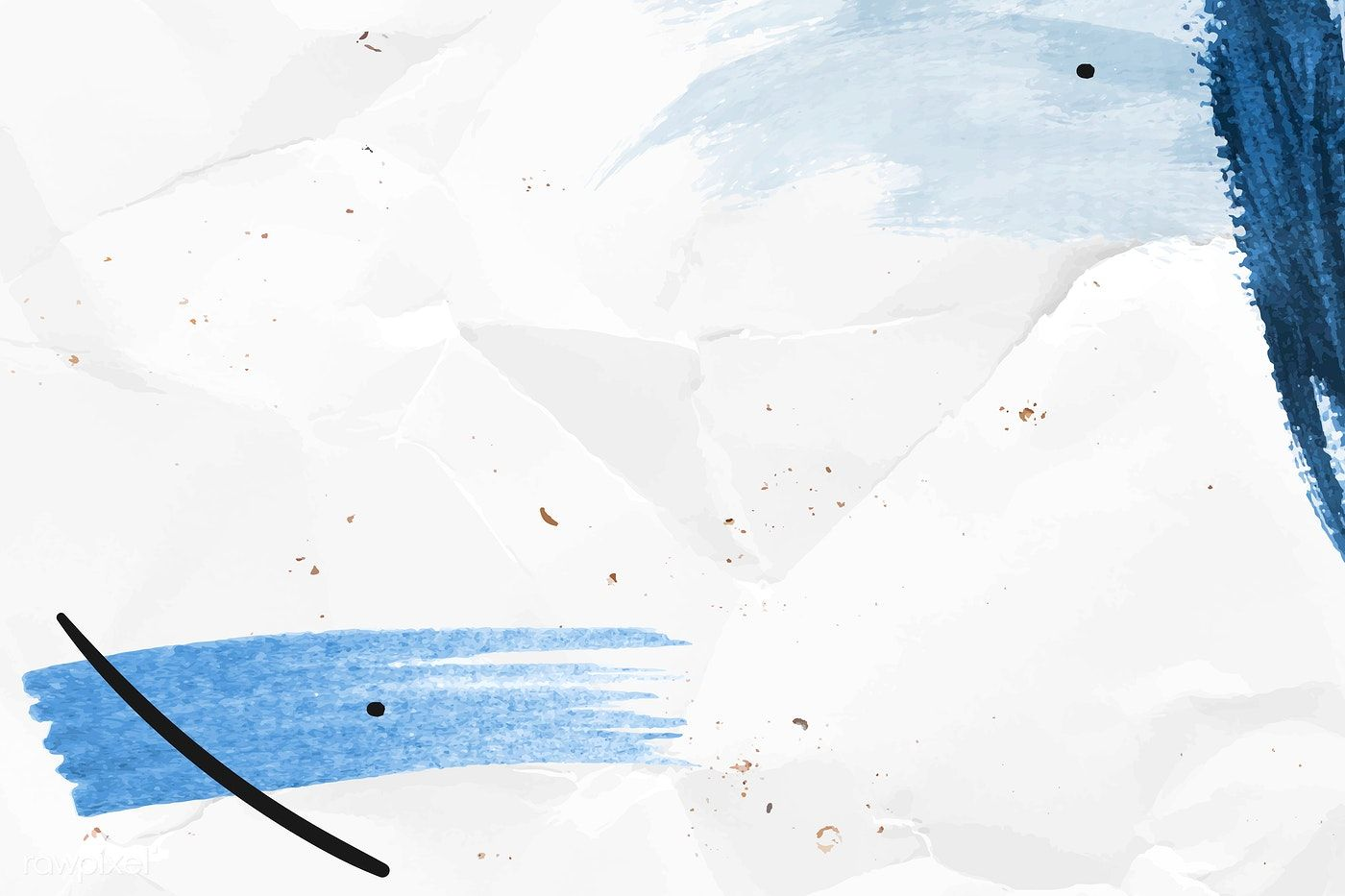Download Premium Vector Of Blue Brushstroke On A Crumpled Paper