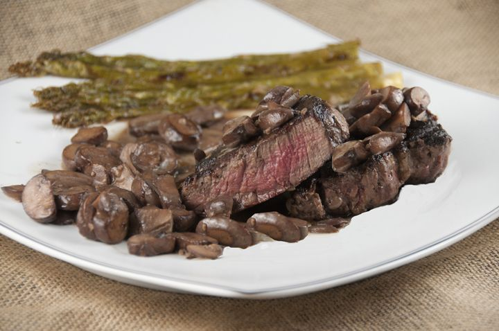 recipe: flank steak with mushroom ragout [13]