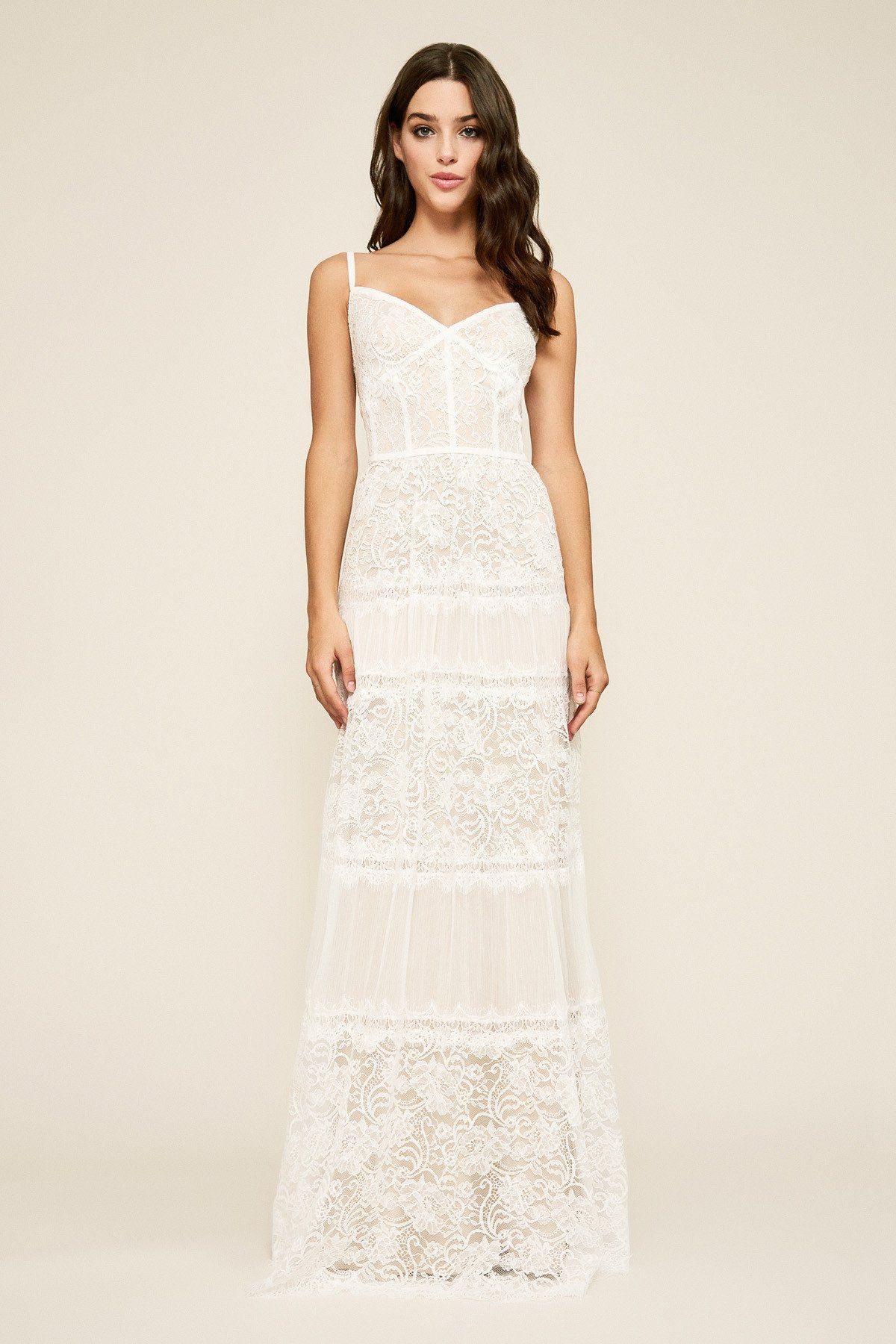 Tadashi Shoji Sleeveless Lace V Neck A Line Dress Affordable Wedding Dresses Lace Lace Beach Dress Dresses [ 1800 x 1200 Pixel ]