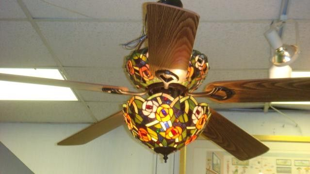 Ceiling Fans With Stained Glass: 17 Best images about Stained Glass Ceiling Fan on Pinterest | Ceiling fan  lights, Indoor outdoor and Tiffany glass,Lighting