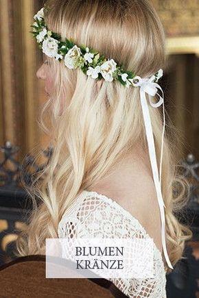 Blumenkranz Hochzeit Haarschmuck Braut Fleuriscoeur ...