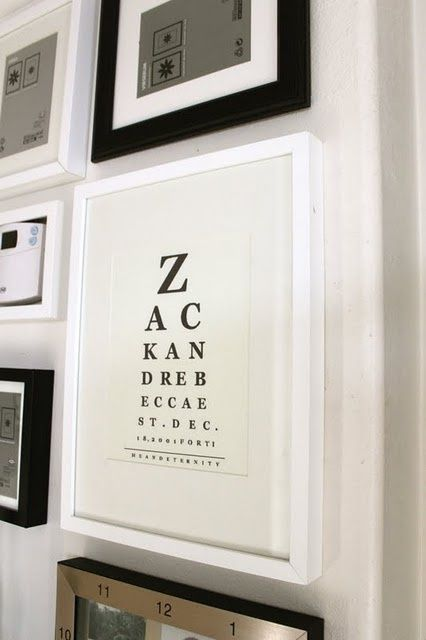 Make Your Own Eye Chart Wall Art For Free I Can Think Of So Many Messages Already