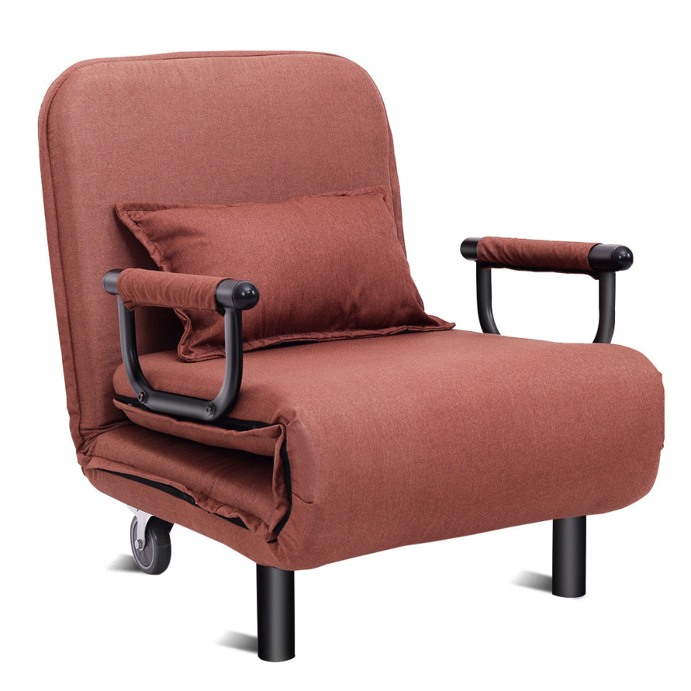 Costway Convertible Sofa Bed Folding Arm Chair Sleeper Leisure Recliner Lounge Couch Walmart Com In 2020 Sofa Bed Sleeper Chair Chair Bed