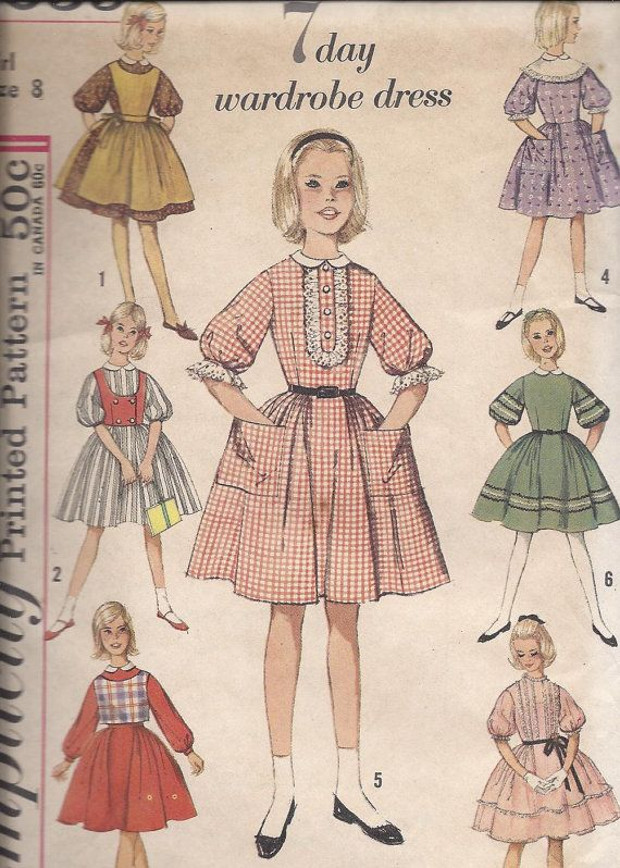 60s 7 Day Wardrobe Dress pattern by DawnsDesignBoutique on Etsy, $6.50